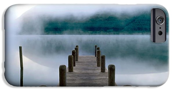 Marys iPhone Cases - Fog Over A Lake, St. Marys Loch iPhone Case by Panoramic Images