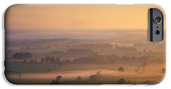 Vale iPhone Cases - Fog Over A Landscape, Blackmore Vale iPhone Case by Panoramic Images