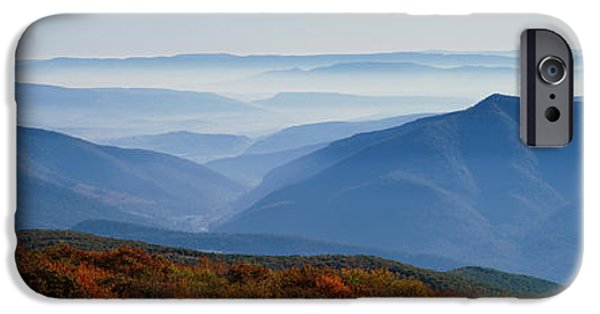 Sod iPhone Cases - Fog Over Hills, Dolly Sods Wilderness iPhone Case by Panoramic Images