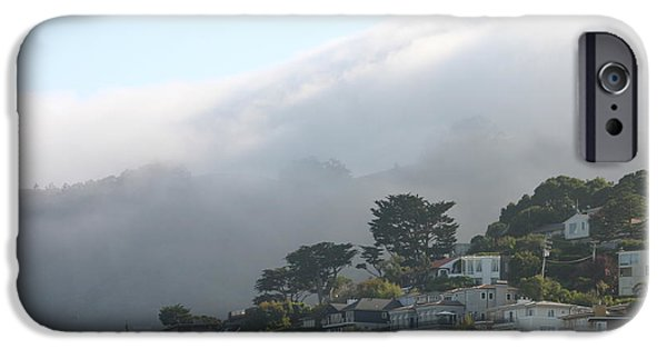 Sausalito iPhone Cases - Fog over Sausalito iPhone Case by Jim Bowdon