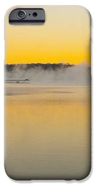 Fog over the Lake iPhone Case by Michael Waters