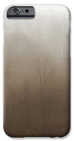 Fog Riverside Park iPhone Case by Scott Norris