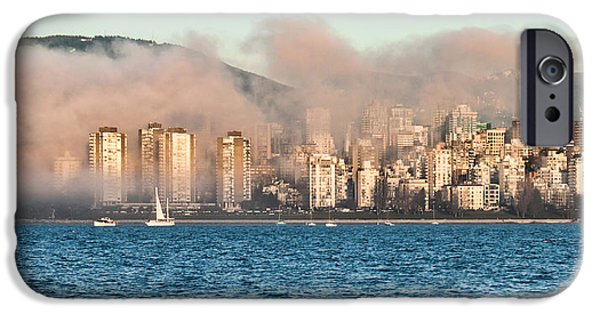 Park Scene iPhone Cases - Fog Rolling In iPhone Case by James Wheeler