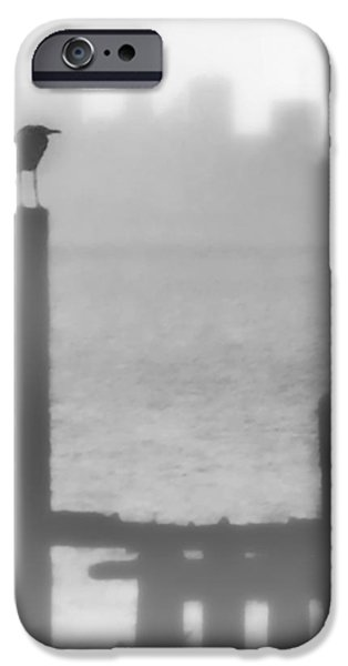 Sausalito iPhone Cases - Fog Watcher iPhone Case by Terry Fiala