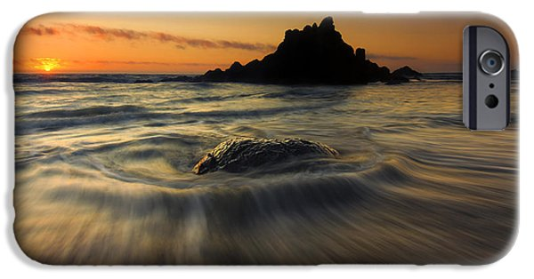 Ebb iPhone Cases - Fogarty Creek Sunset iPhone Case by Mike  Dawson