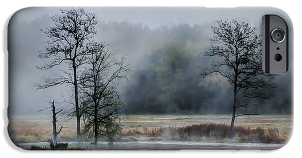 Fog Mist iPhone Cases - Foggy Bottoms iPhone Case by James Barber
