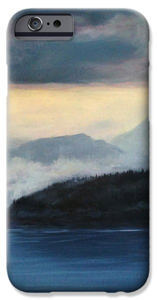 Foggy Day in Anacortes iPhone Case by Eve McCauley