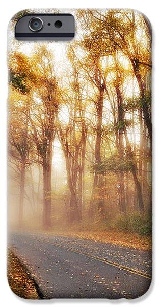 Foggy Fall Wonderland - Blue Ridge Parkway I iPhone Case by Dan Carmichael