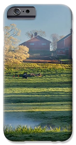 Foggy Farm Morning iPhone Case by Bill  Wakeley