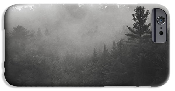 Norway iPhone Cases - Foggy hillside - Norway - Maine iPhone Case by Steven Ralser