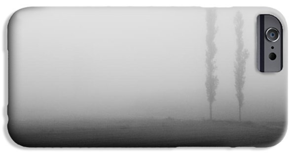 Fog Mist iPhone Cases - Foggy landscape iPhone Case by Davorin Mance