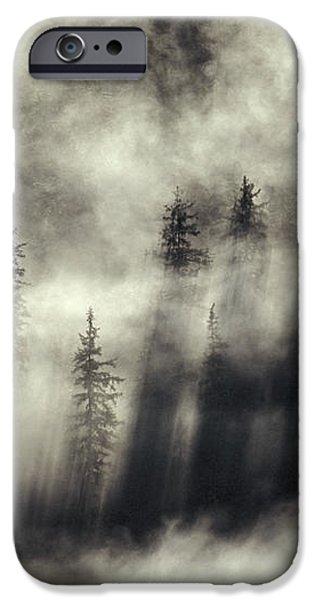 Foggy Landscape Stephens Passage iPhone Case by Ron Sanford