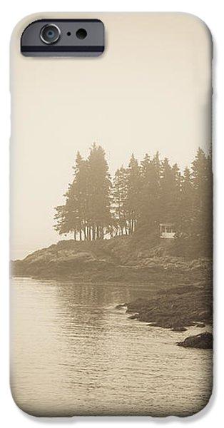Foggy Maine Coast iPhone Case by Diane Diederich