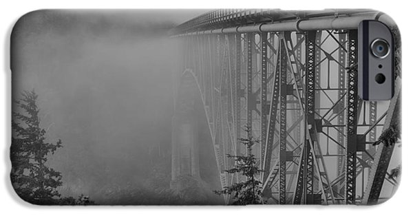 Jeff Swanson iPhone Cases - Foggy Morning iPhone Case by Jeff Swanson