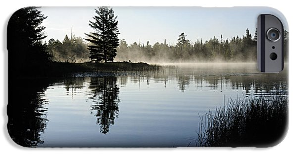 Bwcaw iPhone Cases - Foggy Morning iPhone Case by Larry Ricker