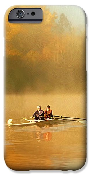 Foggy Morning on the Chattahoochee iPhone Case by Darren Fisher
