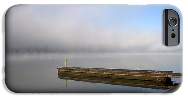 Recently Sold -  - Mounds iPhone Cases - Foggy Pier iPhone Case by Gregg L Walker Artistic Explorer