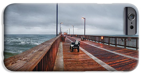 Michael iPhone Cases - Foggy Pier  iPhone Case by Michael Thomas