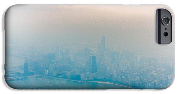 Willis Tower iPhone Cases - Foggy Skyline iPhone Case by Brad Tammaro