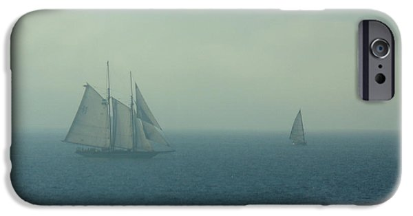 Pirate Ship iPhone Cases - Foggy state of Mind iPhone Case by Daria Brown