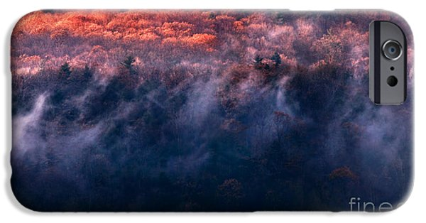 Winter Storm iPhone Cases - Foggy Sunset iPhone Case by HD Connelly