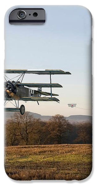 Fokker DR1 - Day's End iPhone Case by Pat Speirs