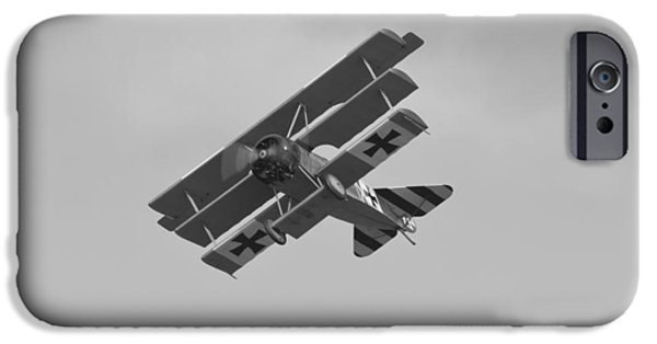 World War One iPhone Cases - Fokker Fighter Plane iPhone Case by Maj Seda
