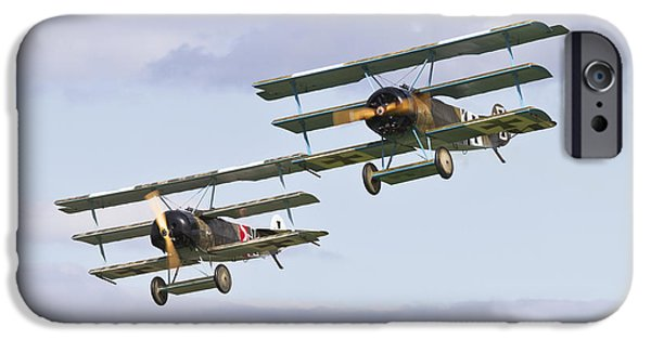 World War One iPhone Cases - Fokker Fighters iPhone Case by Maj Seda