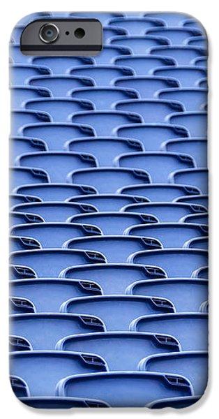 Folding plastic blue seats iPhone Case by Dutourdumonde Photography
