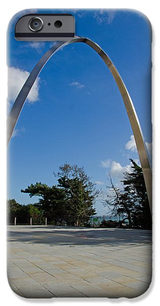 Ww1 iPhone Cases - Folestone Memorial Arch  iPhone Case by Paul Martin