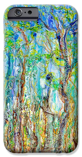Landscapes Reliefs iPhone Cases - Foliage melody iPhone Case by Regina Valluzzi