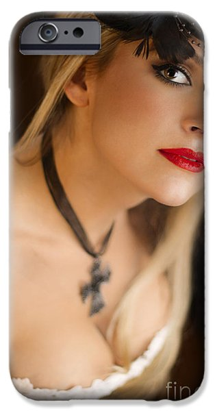 Seductive iPhone Cases - Follow Me Into The Night iPhone Case by Evelina Kremsdorf