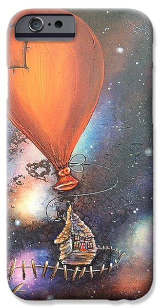 Outer Space Paintings iPhone Cases - Follow That Star iPhone Case by Krystyna Spink