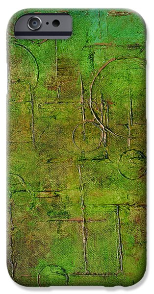 Diagram Paintings iPhone Cases - Follow the Diagram iPhone Case by Kim Sobat