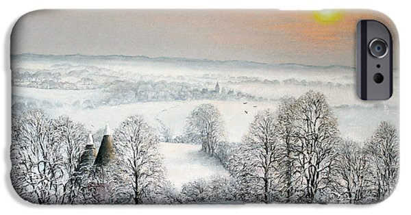 Snow Pastels iPhone Cases - Follow The Path iPhone Case by Rosemary Colyer