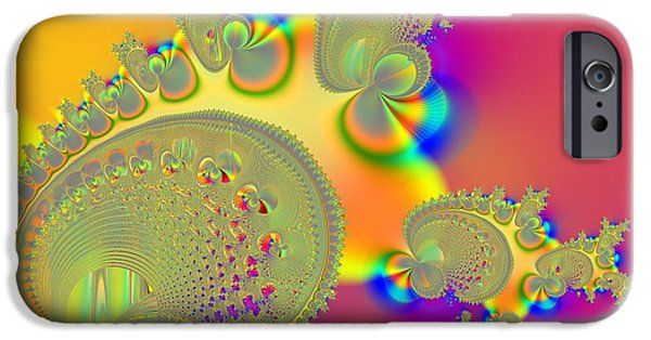 Recently Sold -  - Abstract Digital iPhone Cases - Follower iPhone Case by Solomon Barroa