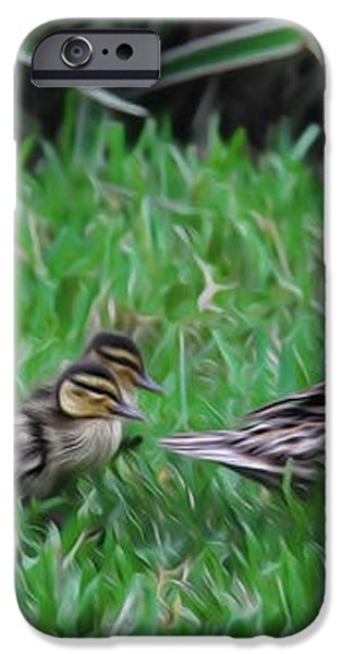 Following Mommy iPhone Case by Lee Dos Santos