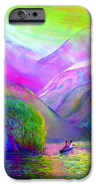 Contemporary Abstract iPhone Cases - Following the Flow iPhone Case by Jane Small