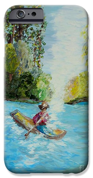Canoe iPhone Cases - Following the Light iPhone Case by Eloise Schneider