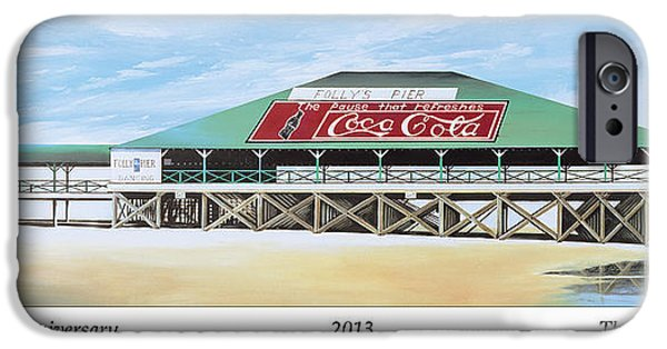 James Christopher Hill iPhone Cases - Folly Beach Original Pier iPhone Case by James Christopher Hill