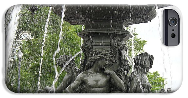 Nation iPhone Cases - Fontaine de Tourny iPhone Case by Lingfai Leung