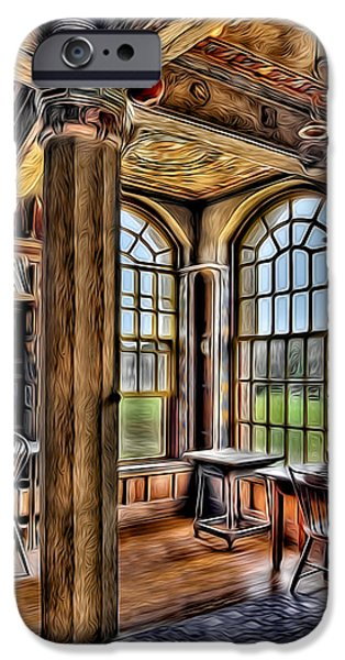 Fonthill Castle Office iPhone Case by Susan Candelario