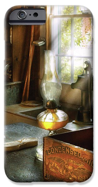 Oil Lamp Photographs iPhone Cases - Food - Bordens Condensed Milk iPhone Case by Mike Savad
