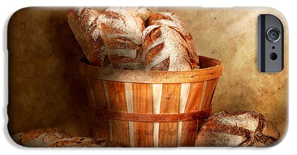 Fed Photographs iPhone Cases - Food - Bread - Your daily bread iPhone Case by Mike Savad