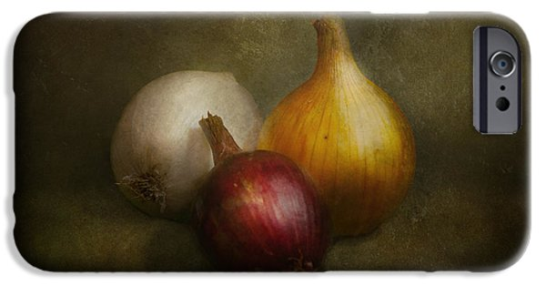 Vegetables iPhone Cases - Food - Onions - Onions  iPhone Case by Mike Savad