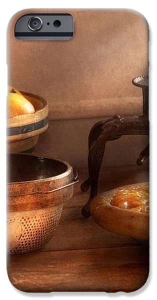 Food - Pie - Mama's peach pie iPhone Case by Mike Savad