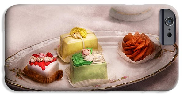 Tea Party Photographs iPhone Cases - Food - Sweet - Cake - Grandmas treats  iPhone Case by Mike Savad