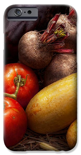 Food - Vegetables - Peppers Tomatoes Squash and some Turnips iPhone Case by Mike Savad