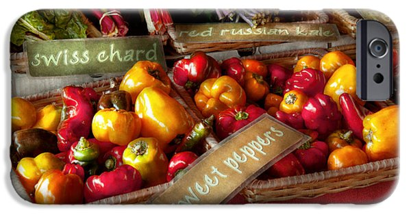 Swiss Chard iPhone Cases - Food - Vegetables - Sweet peppers for sale iPhone Case by Mike Savad