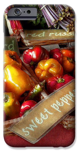 Food - Vegetables - Sweet peppers for sale iPhone Case by Mike Savad